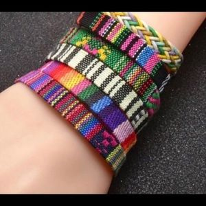 Jewelry - Girls Multi Color Friendship Material Bracelet